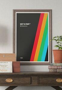 Sinclair ZX Spectrum computer games console Posters Prints A3, A2 or A1 Prints