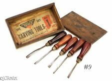 woodworking carving tools MILLERS FALLS NO 1 BOXED box chisel set