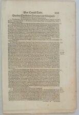 Boleslav I. PRAG Wenzel von BÖHMEN Original Textblatt um1550 Krakau POLEN Ungarn