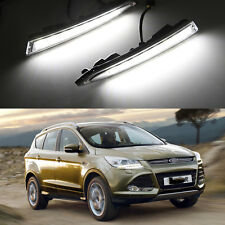 2PCS LED Head Lamp DRL Daytime Running Light White For Ford Kuga 2014-2017