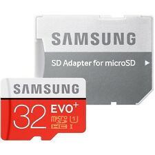 SAMSUNG EVO+ 32GB Micro SD Micro SDHC Memory Card 80MB/s w/SD Adapter MB-MC32DA
