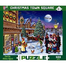 Christmas Town Square 500 Piece Puzzle