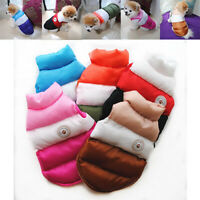 Chihuahua Puppy Sweater Coat Clothes For Small Pet Dog Warm Clothing Down Jacket