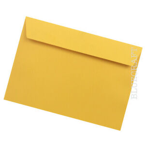 10 pack x C5 Egg Yellow Luxury 120gsm Envelopes - 162 x 229mm - 6.37 x 9.01 inch