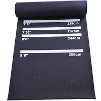 HOMCOM Darts Rubber Mat Professional 4 Throwing Distances Pub Club Home Black