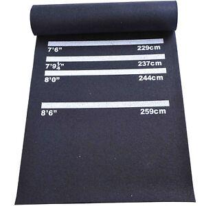 Darts Rubber Mat Professional 4 Throwing Distances Pub Club Home Black