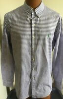 Ralph Lauren Large Custom Fit White&Purple Checked Long Sleeve Cotton Shirt