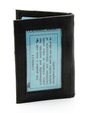 New Mens Bifold Leather ID Wallet Holder Black Credit Card Slim Thin Zip 3x4 522