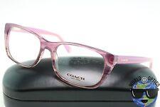Coach RX Eyeglasses HC 6048 5186 (Georgie) Berry Horn Frame [51-17-135]