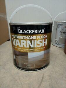 Blackfriar Polyurethane Floor Varnish 2.5L - Clear Gloss Finish