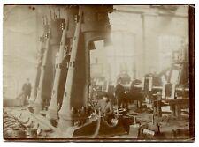 4 Photos - Machines Outils Usine Industrie 1900 - Argentiques  et Cyanotype -