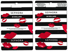 gift cards SEPHORA 💋 collectible card beauty care lips kiss