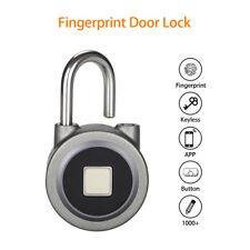 Keyless Fingerprint Door Lock Waterproof Smart Round Padlock BT App Electronic
