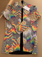 New listing jen stark zip up long sleeve wetsuit top colorful pattern women medium men small