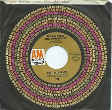 Burt Bacharach:Are you there (with another girl)/Message to... A & M. Popcorn