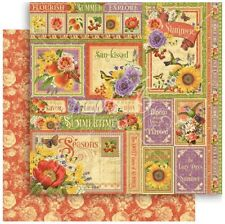 """Graphic 45 Seasons - SUMMER COLLECTIVE - 12x12"""" Scrapbooking Paper"""