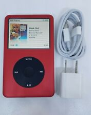 Apple iPod 7th Gen CUSTOM RED thin (160 GB),new battery , new front and back .