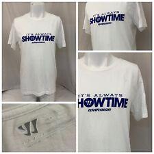 Warrior T Shirt M White Cotton Polyester Short Sleeve Crew Neck NWOT A571