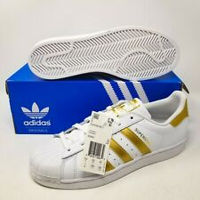 adidas Superstar J White Gold Metallic B39402 KIDS size 7 EUR 40 UK 6.5 Original