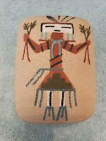 Navajo Sand Art Ceramic Jewlery Box (excellent condition)