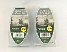 2 Yankee Candle Fragranced Wax Melts, Evergreen Mist