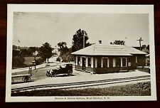 BOSTON & MAINE RAILROAD STATION WEST RINDGE NEW HAMPSHIRE NH F. Swallow Postcard