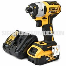 "DeWALT DCF887 20V Max Li-Ion 3 Speed XR 5.0 Ah Brushless 1/4"" Impact Driver Kit"
