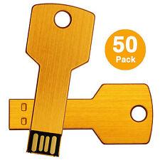 50PCS Wholesale 2GB Metal Key USB2.0 Flash Drive Flash Memory Stick Pen Drives