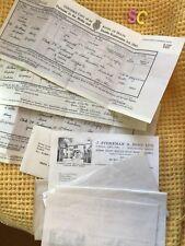 More details for joblot of vintage funeral ephemera death certificates,  headstone letters , plot