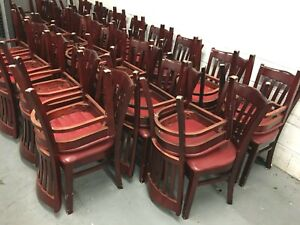 Chairs Solid Bolted Wood frame Brown Dining restaurant 10 units