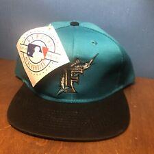 VINTAGE Logo 7 Florida Marlins Snapback Hat - YOUTH size Kids Deadstock MLB NEW