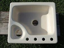 Kohler Cast Iron K-5918 -25X22 4 Hole Urbanite Drop-In Bathroom Sink White