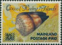 Cocos Islands 1990 SG235 POSTAGE PAID Cone shell MNH