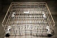 GE Dishwasher NYLON Dish Lower Bottom Rack WD28X21715 w/ Wheels RUST FREE GREY
