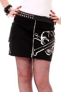 XBone Split Skirt by Tiger of London Punk/Goth