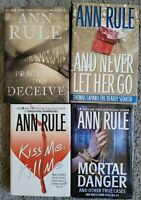 ANN RULE HARDCOVER TRUE CRIME FILES HCDJ 4 BOOK LOT NON FICTION MURDER
