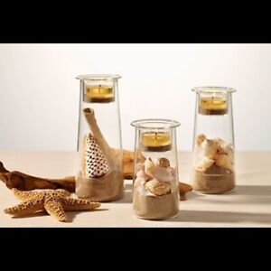 Party Lite Symmetry Trio Tea Light Candle Holder Glass Display Customize P91205
