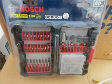 Precision Bosch Impact Tough Alloy Steel Shank Screwdriver Bit Set 40-Piece