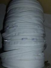 (1,90 €/M) 3 m Endlose Reißverschluss weiß mit 3 Schiebern für Bettwäsche usw
