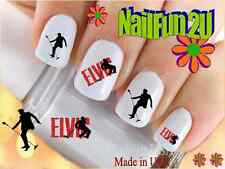 "RTG Set#537 CHARACTER ""Elvis 1 Silhouette"" WaterSlide Decals Nail Art Transfers"