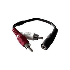 Câble Jack 3,5 STEREO Femelle vers 2 RCA Mâle Fiches Surmoulées Long 10 cm