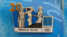 COUNTDOWN 20 MONTHS TO GO (ENGLISH) TEMPLE OF ZEUS - ATHENS 2004 OLYMPIC PIN