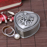 Rose Jewelry Display Box Case Ring Earring Necklace Storage Holder Organizer New