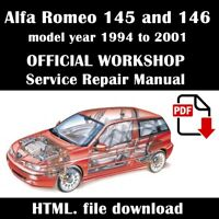 Alfa Romeo 145 and 146 Factory Workshop Service Repair Manual 1994 - 2001