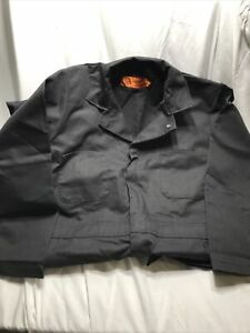 New Red Kap Men's Twill Action Back Coverall, Black, 40-RG