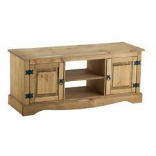 Mercers Furniture Corona Mexican Pine 2 Door 1 Shelf Media TV Unit