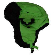 87aa99a0635 Decky Russian Black Fur Aviator Hat Neon Green L xl