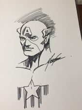 CAPTAIN AMERICA ORIGINAL HAND DRAWN ART MIKE GRELL SKETCH & INK 11x17