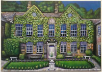 Whitley Hall - Canvas Print of Landscape Painting 30x20cm on box canvas signed