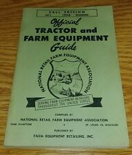 1965 Fall Edition Nrfea Official Tractor and Farm Equipment Guide